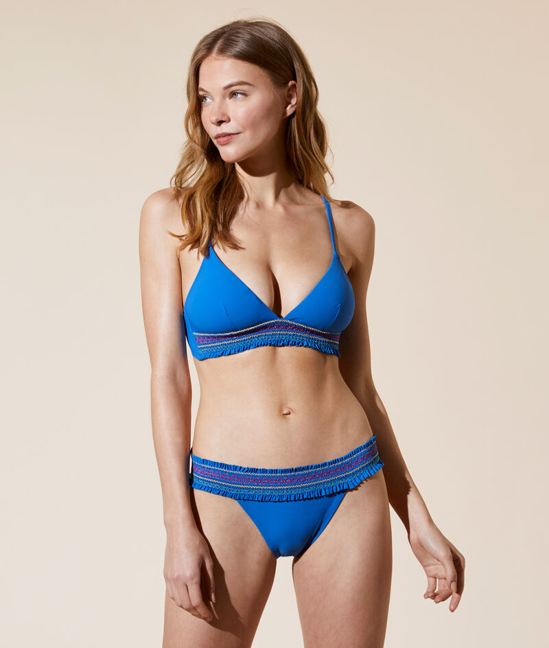 Bikinitopje triangel, verwijderbare vulling;${refinementColor}