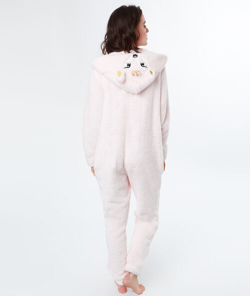 One-piece pyjama met hert knuffel
