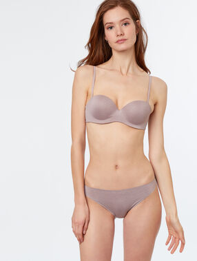Bandeaubh microvezel taupe.