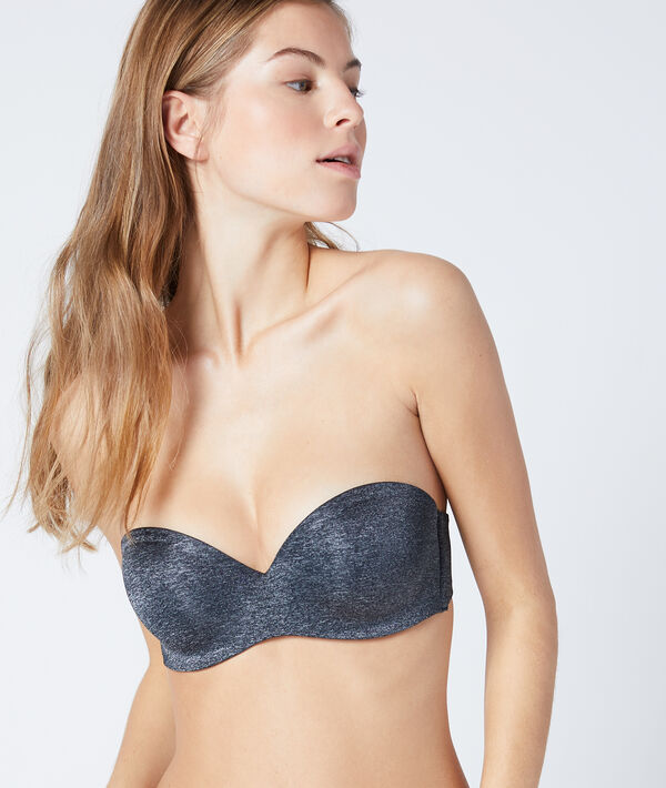 Bandeau push-up, bonnet B;${refinementColor}