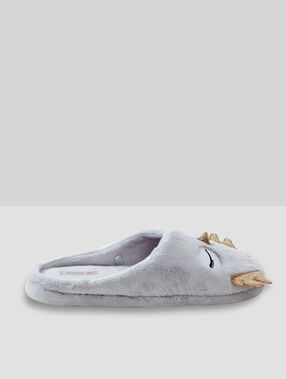 Pantoffels uiltjes grijs.