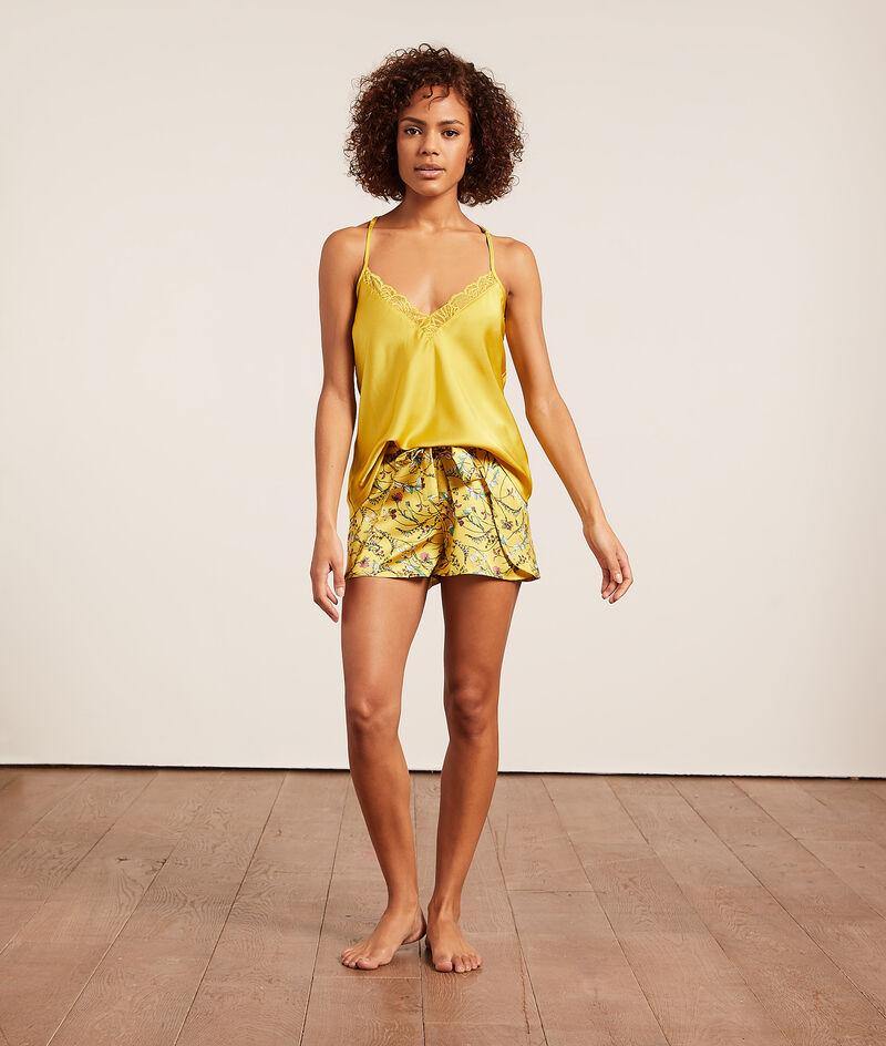Satijnen shorts met print;${refinementColor}