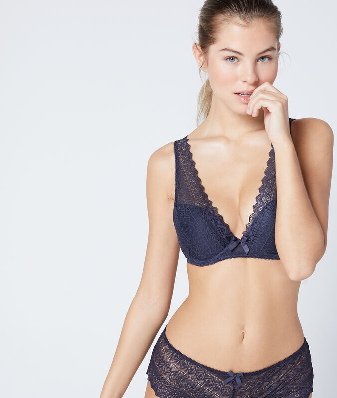 Bh n°3 - triangel push up antraciet.
