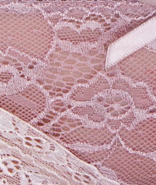 Culotte dentelle florale bicolore
