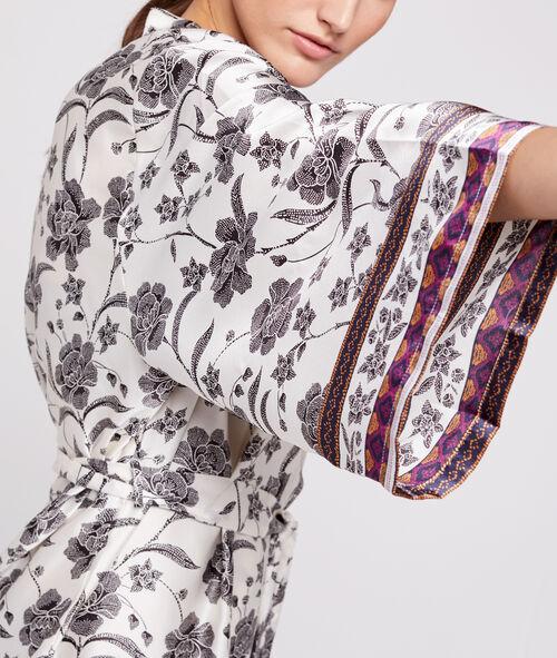Kimono déshabillé satin imprimé Etam Etam Nuit > ET AUSSI > Kimonos > Kimonos Glam