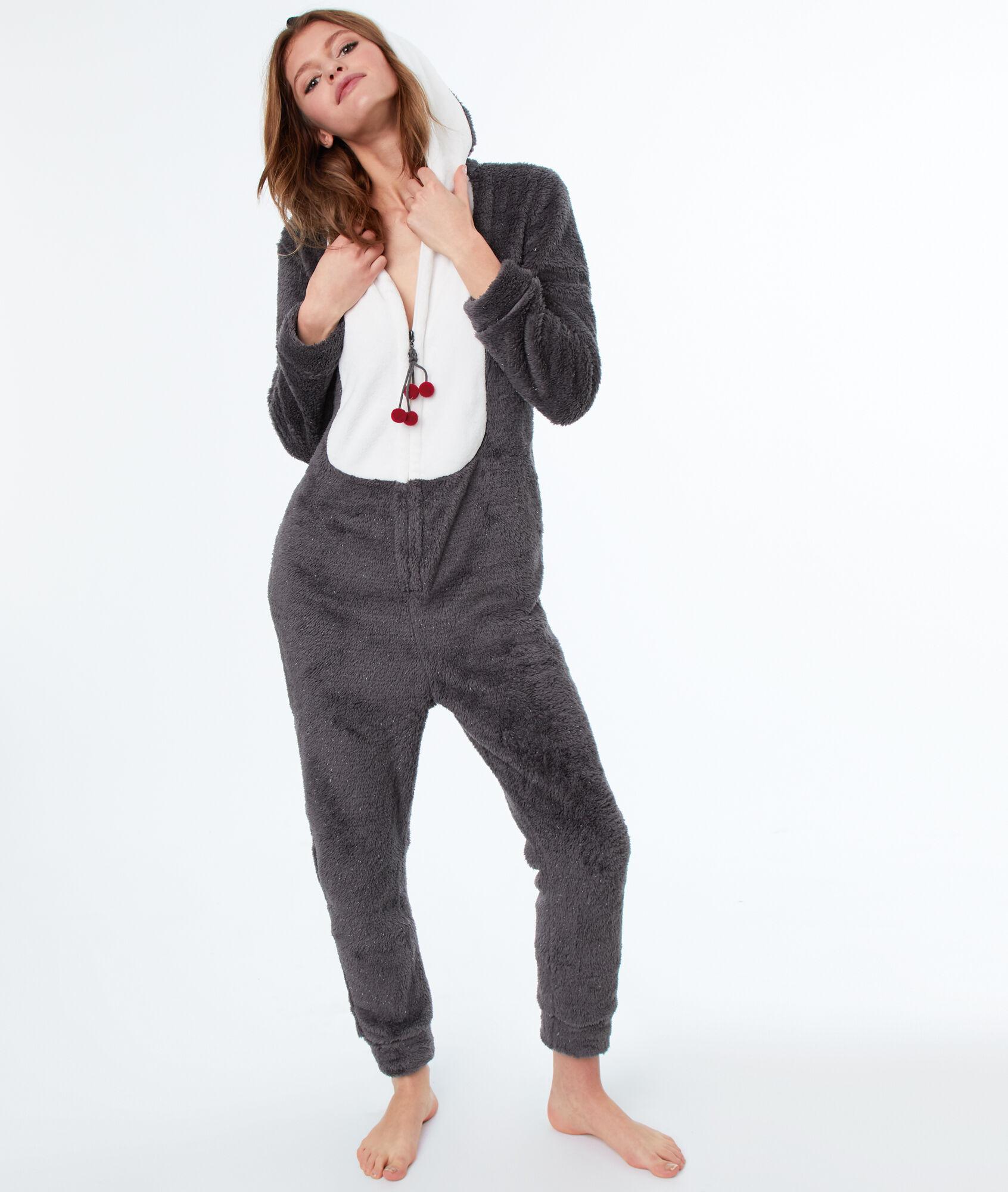 énorme réduction 9f30c 77166 Combinaison Angela Etam Pyjama Gris Pingouin ebWD29YEHI