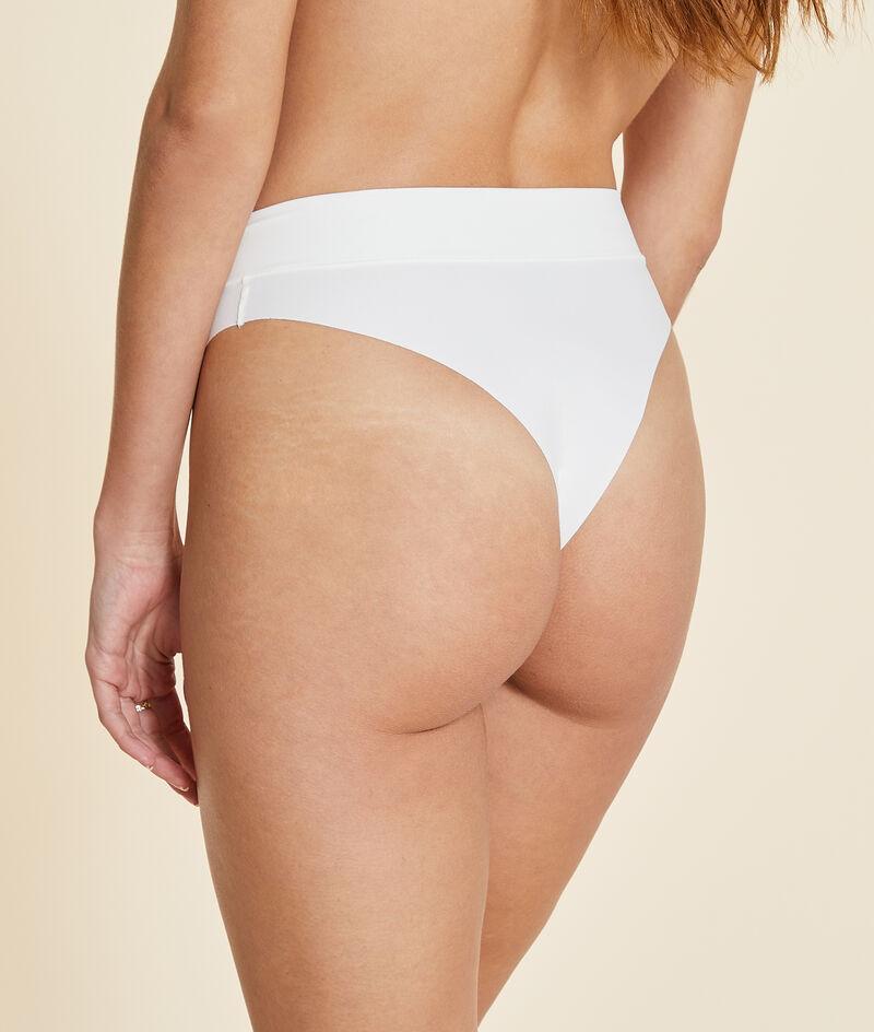 Brazilian bikinibroekje met middelhoge taille, high leg;${refinementColor}