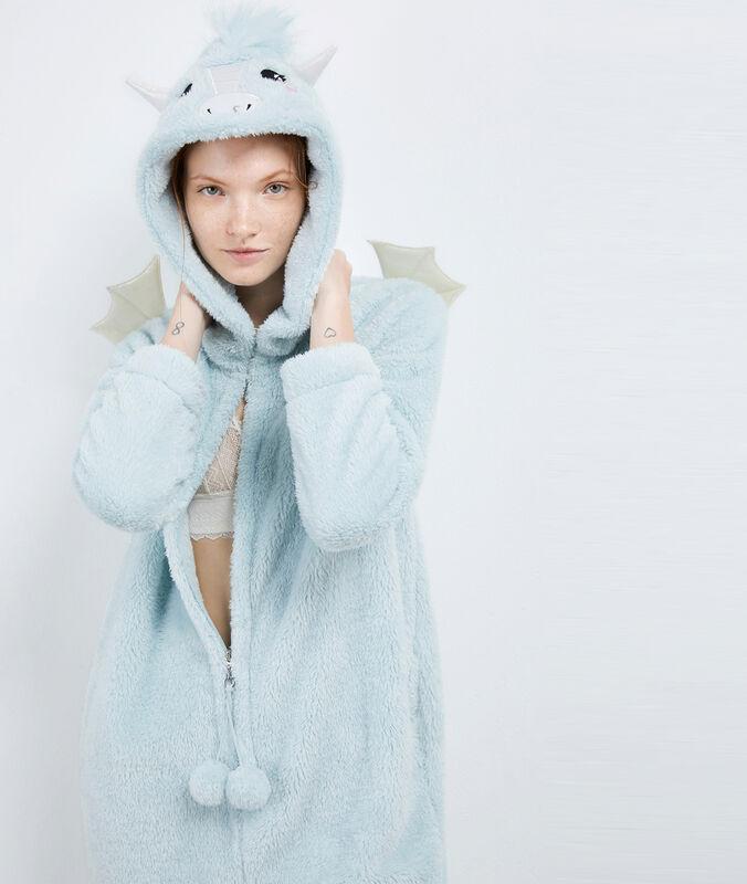 Combinaison pyjama dragon bleu ciel.