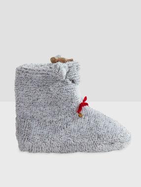 Chaussons bottines 3d gris.