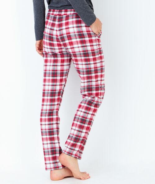 Pyjama 3 pièces, pantalon à carreaux et veste toucher polaire