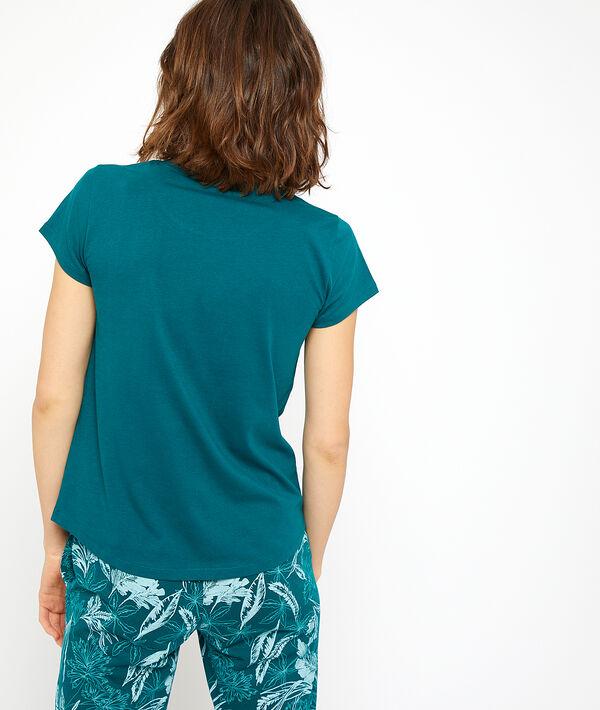 T-shirt in biokatoen, met papegaai print;${refinementColor}