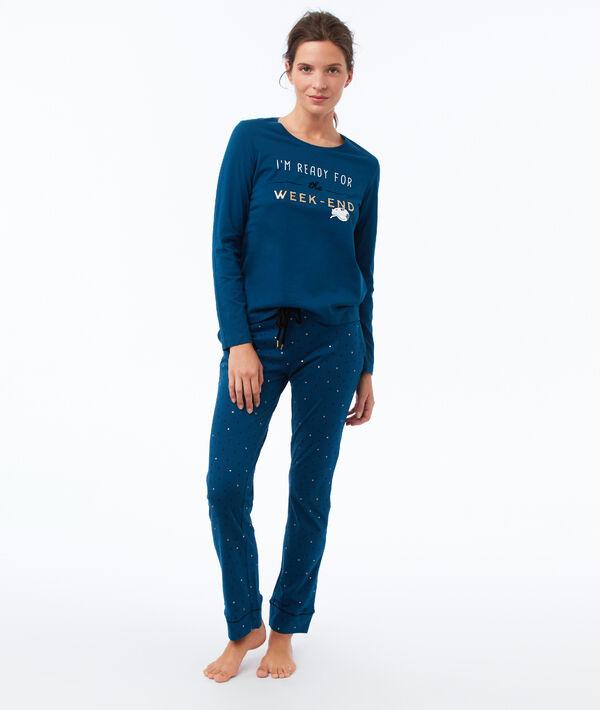 Pantalon met print