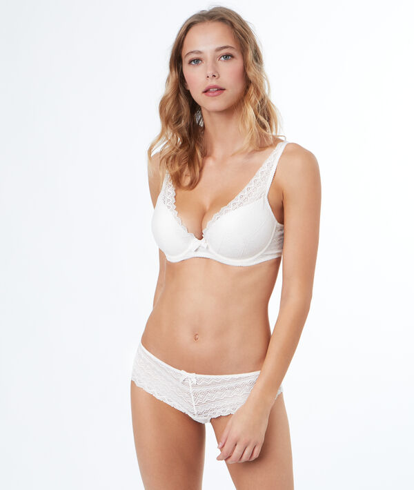 Soutien-gorge N°6 - Triangle naturel, bonnet D;${refinementColor}