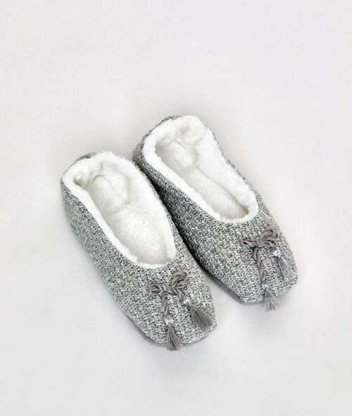 Chaussons souples fourrés façon tricot Etam Etam Nuit > ACCESSOIRES > Chaussons > Tout Voir