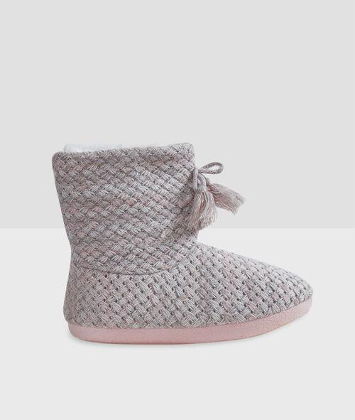Chaussons bottines tressés
