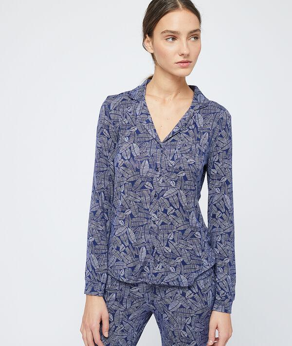 Pyjamavest met bladdessin;${refinementColor}