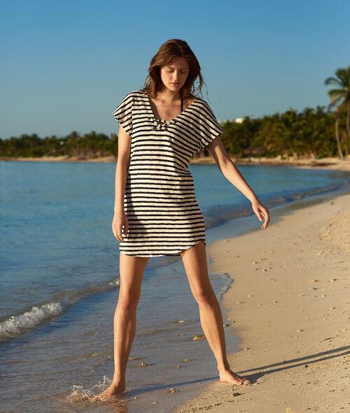 Tunique de plage rayée, détails illets Etam Etam Maillots de Bain > BEACHWEAR > Tuniques et robes de plage