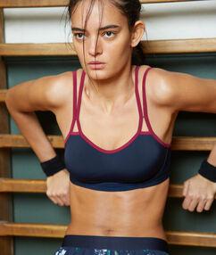 Sportbeha - sterke ondersteuning marineblauw.
