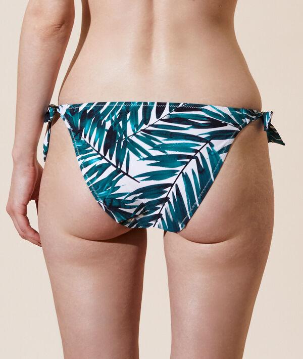 Bas de bikini simple à nouettes;${refinementColor}