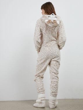 One-piece pyjama giraf beige.