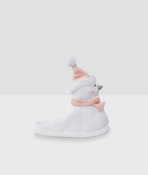 Mules 3D bonhomme de neige