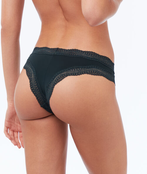 Tanga en micro bords dentelle
