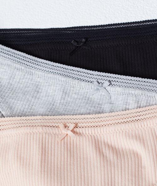 Pack de 3 culottes côtelées