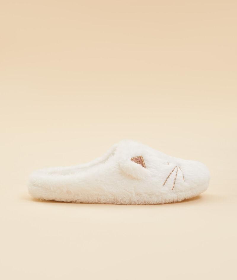 Pantoffels met katborduursel;${refinementColor}