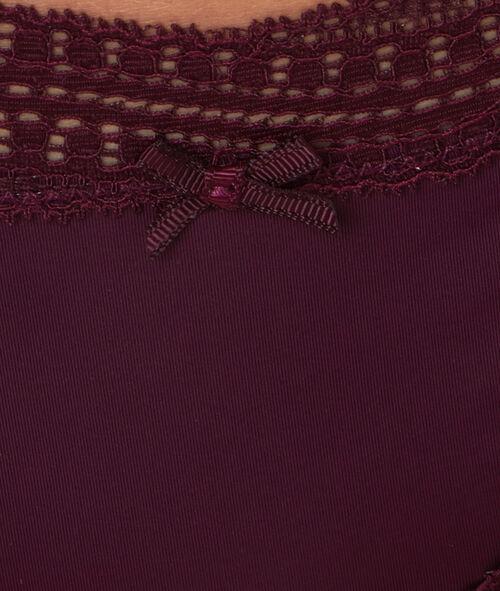 Culotte bords dentelle graphique