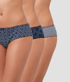 Lot de 3 shortys bleu.