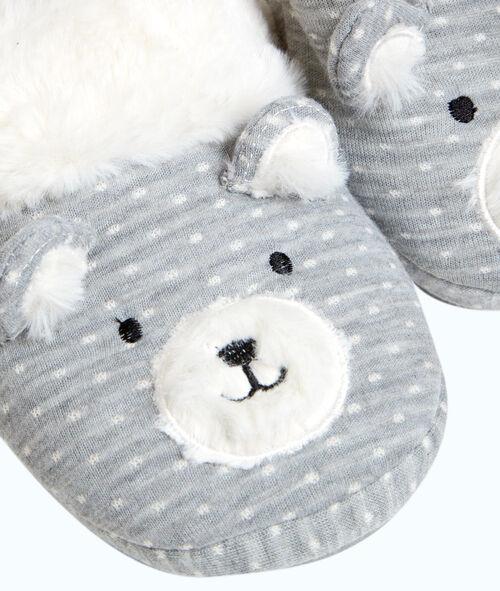 Aansteekpantoffels beer gevoerd