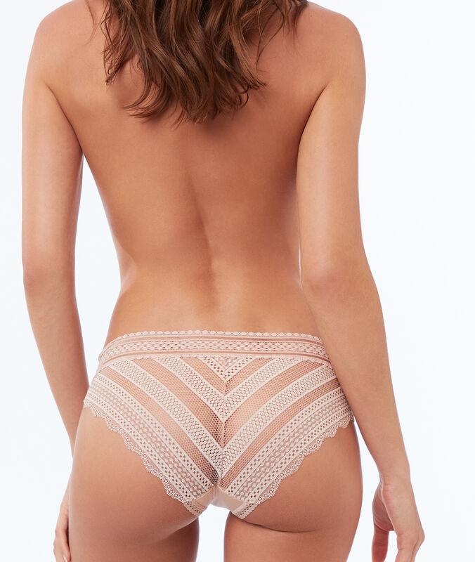 Broekje bi-materiaal elastisch beige.