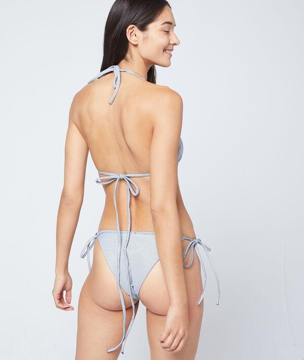 Bas de bikini à nouer, matiéré;${refinementColor}