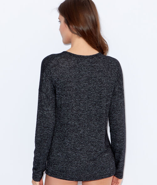 Top in gespikkeld tricot