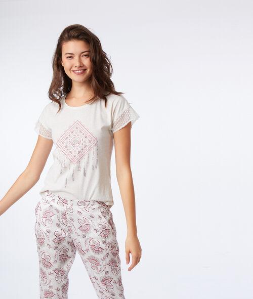 T-shirt imprimé attrape rêve Etam Etam Nuit > LES HAUTS DE PYJAMA > Tops & Débardeurs