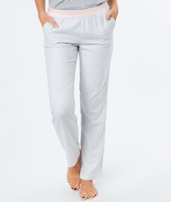 Pantalon fines rayures gris.