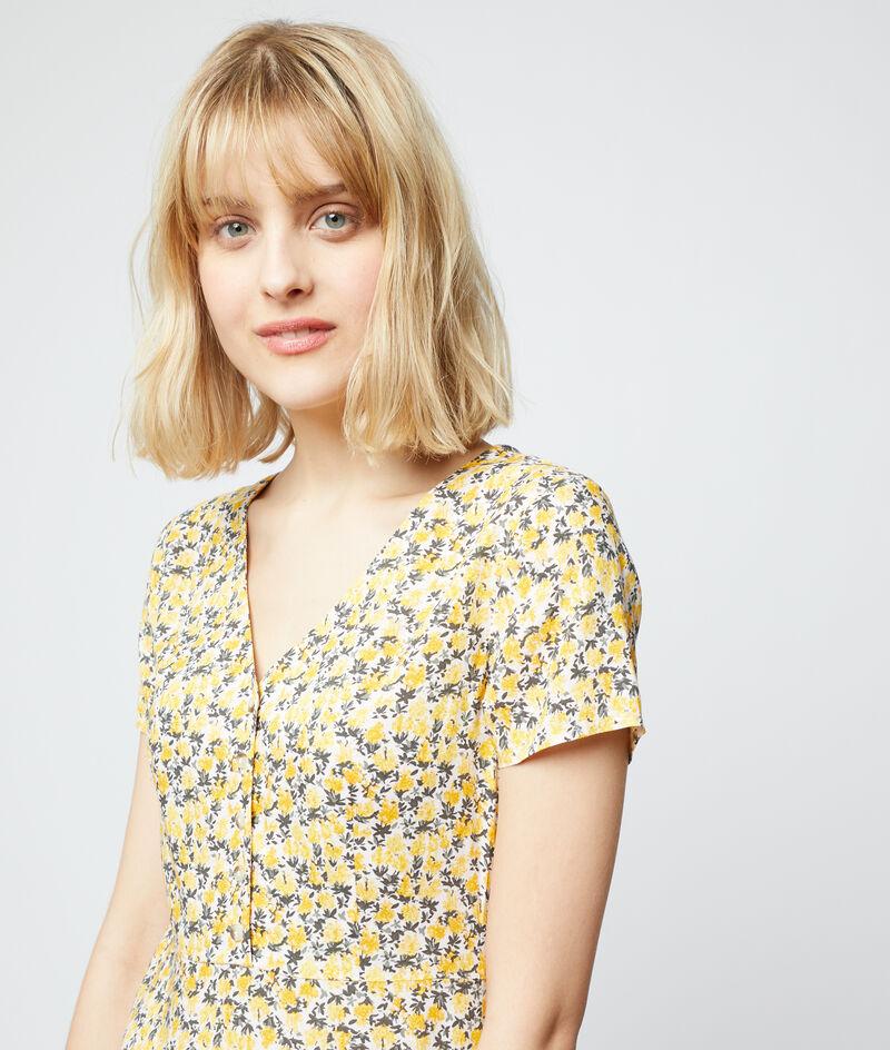 Luchtige jurk met bloemenprint