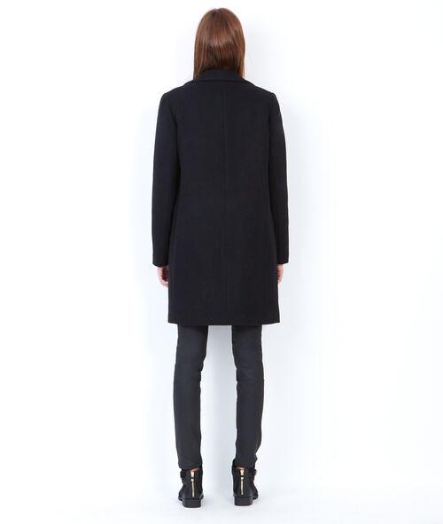 Wollen jas met tailleurskraag