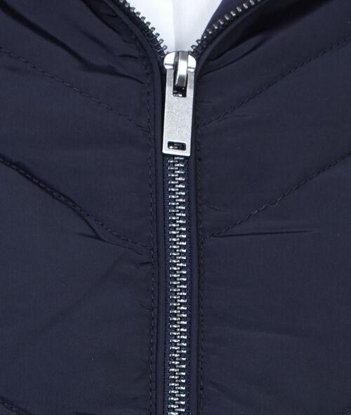 Doudoune à capuche bordée d'imitation fourrure