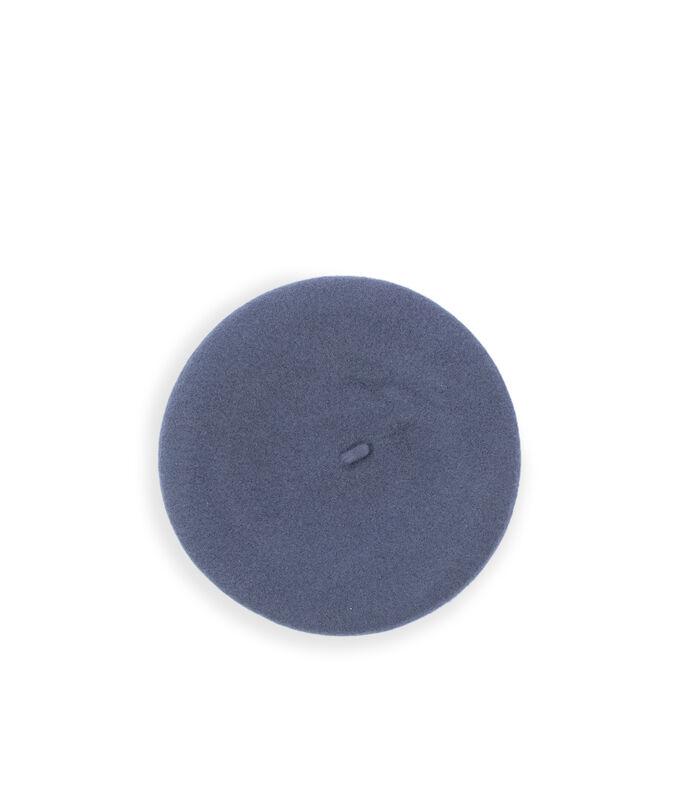 Beret 100% laine gris chine fonce.