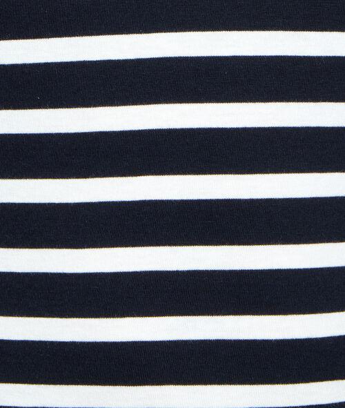 T-shirt marinière épaules dénudées