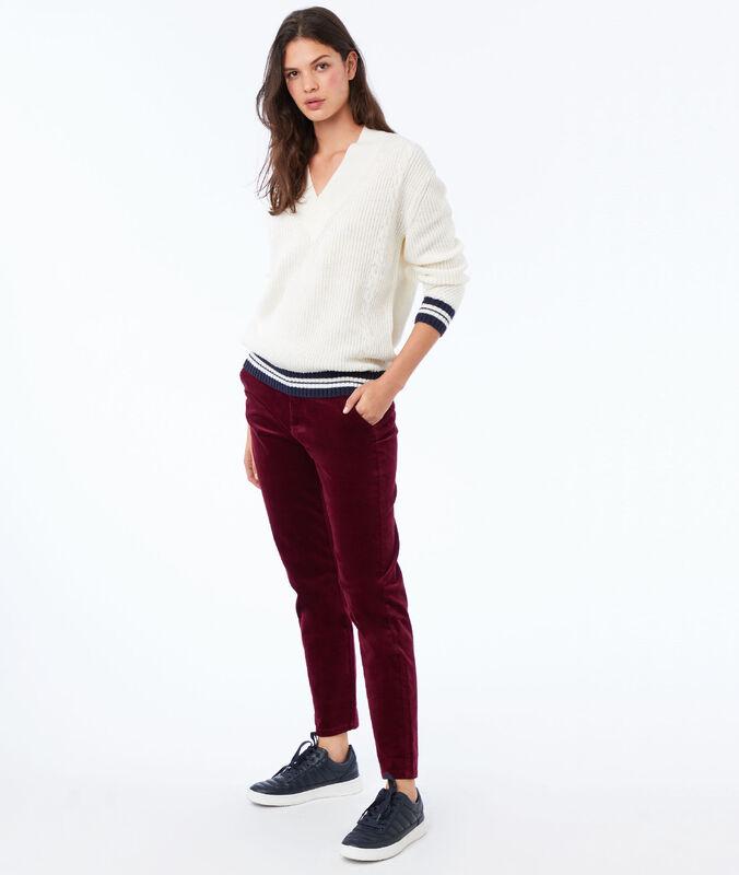Pantalon en velours 7/8 anemone.