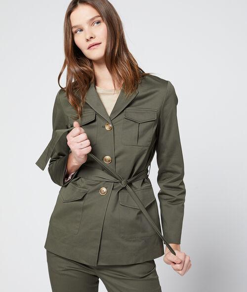 Veste ceinturée à col tailleur Etam Etam Prêt-à-porter > LES VÊTEMENTS > Manteaux & Trenchs > Vestes & Blazers