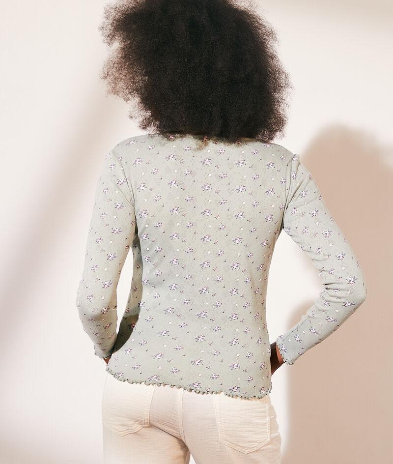 Katoenen vest van pointelle tricot