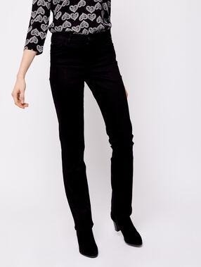 Jean droit noir.