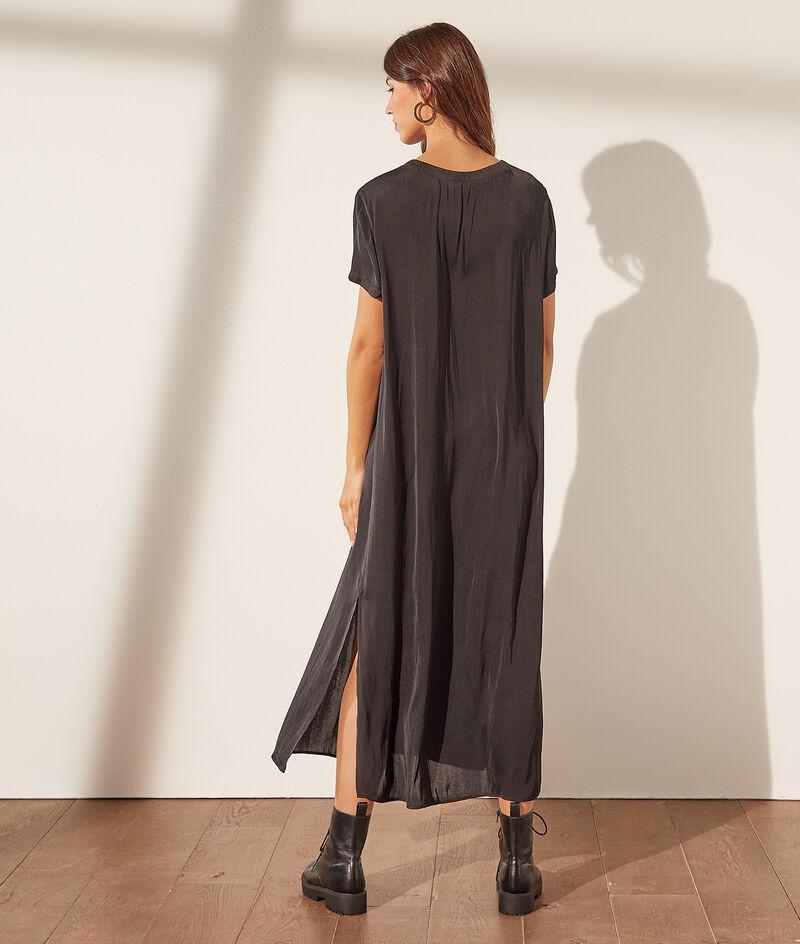 Lange jurk met ronde hals