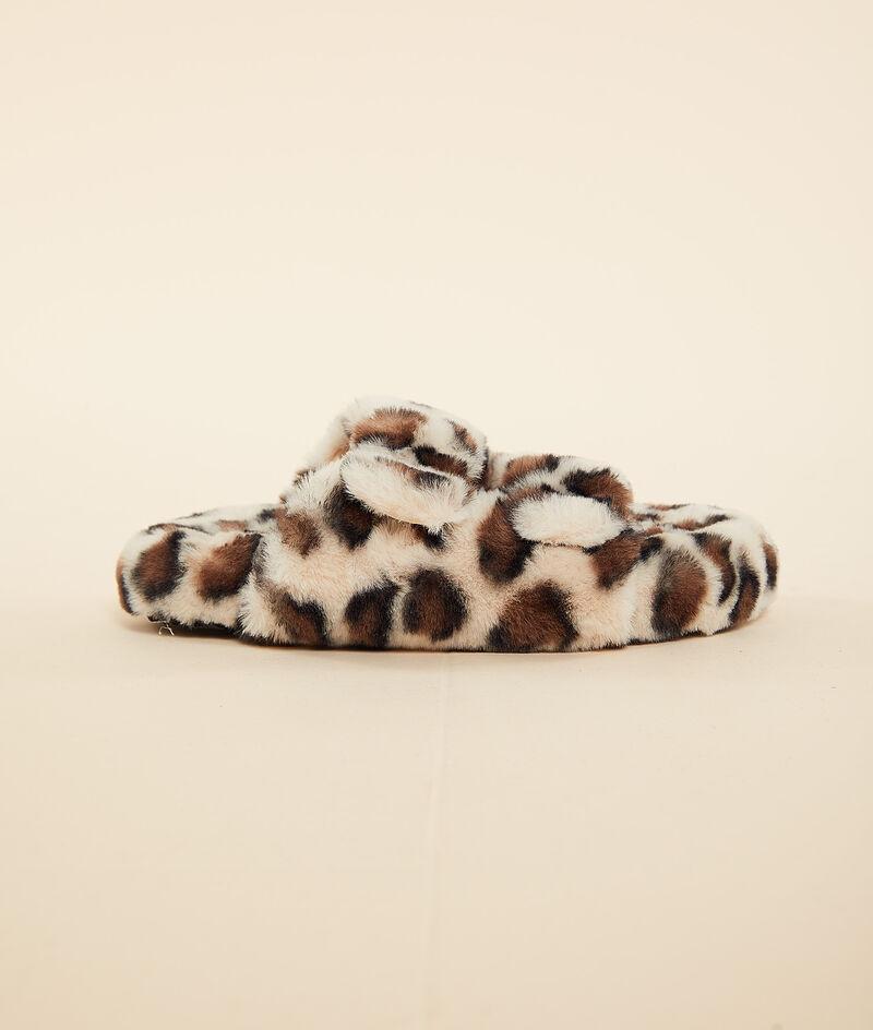 Sandales ouvertes léopard