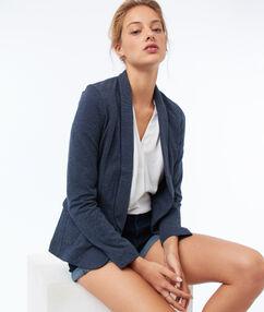 Getailleerde blazer blauw.