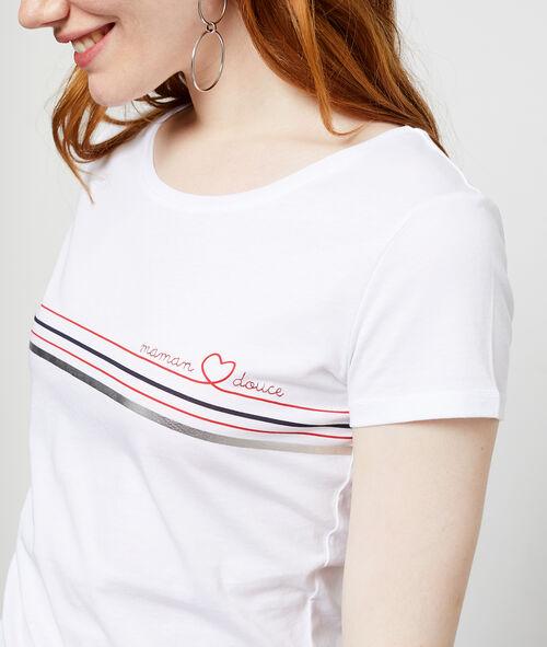 T-shirt 'maman douce' en coton Etam Etam Prêt-à-porter > LES VÊTEMENTS > Tops & T-Shirts – 2° à -50% > Les Basiques
