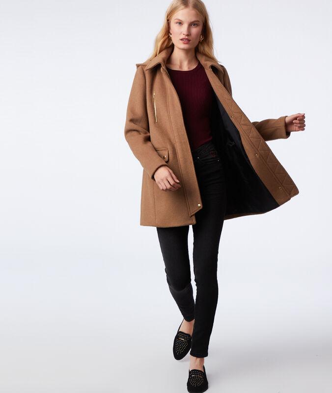Manteau 3/4 à capuche dune.